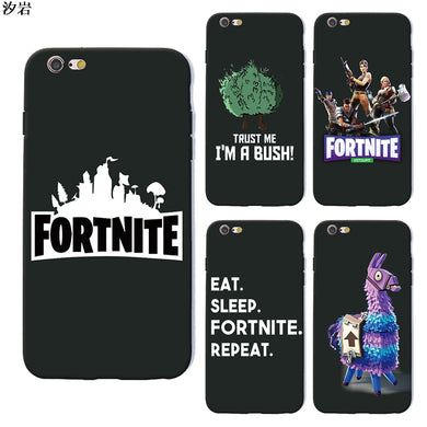 battle royale fortnite phone case soft Silicone black tpu for iPhone X 6 7 8 plus 5 5s 6s se for Apple 10 ten TPU