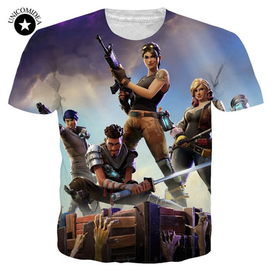 Fortnite T-shirts New Arrival Men Cool Print 3d Skull Shirts Hombre Short Sleeved Breathable Tshirt Undershirt Fitness Tops