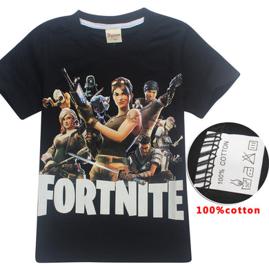 New 100% cotton Fortnite t shirt Boys Girls kid t shirts Summer clothes 3D Short Sleeve printing Cartoon t-shirts fortnite