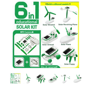 Solar Power Robot Kit 6 in 1 Creative DIY Education Learning