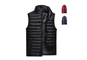 Winter sleeveless Men down vest coat men's fashion casual waistcoat jacket