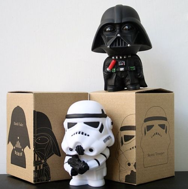 2pcs Set Star Wars Darth Vader & Stormtrooper 10cm / 4