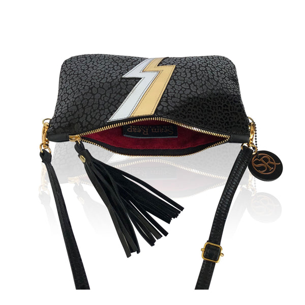 "The ""Ziggy"" Lightning Bolt Clutch - Seam Reap"
