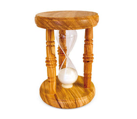 Olive Wood Three Columns Hourglass