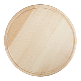pizza round cutting board in beech wood