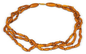 Necklace with Inserts Olive Wood