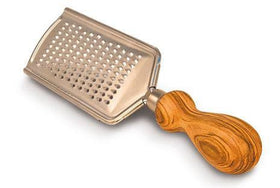 Grater with Handle Olive Wood