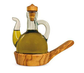 Cruet with Detachable Base Olive Wood