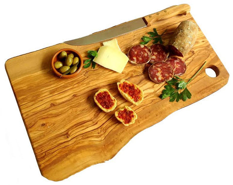 Large Rustic Cutting Board Olive Wood