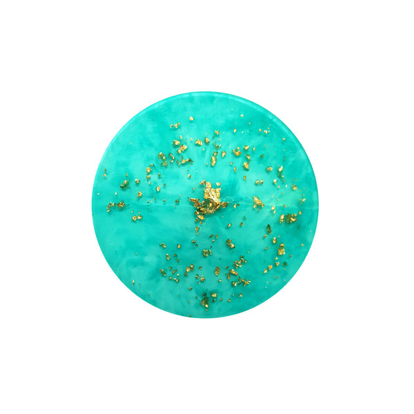 Layla Aqua Gold Resin Cap Set