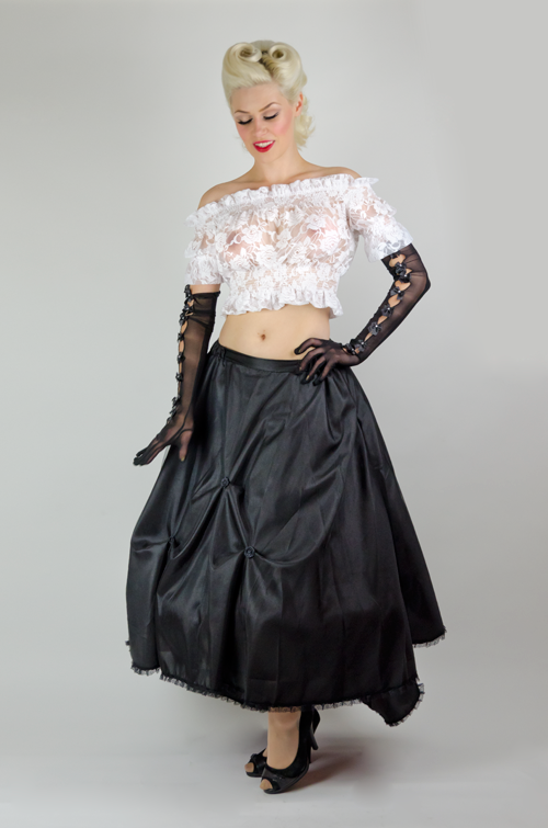 Black Cinderella Long Skirt
