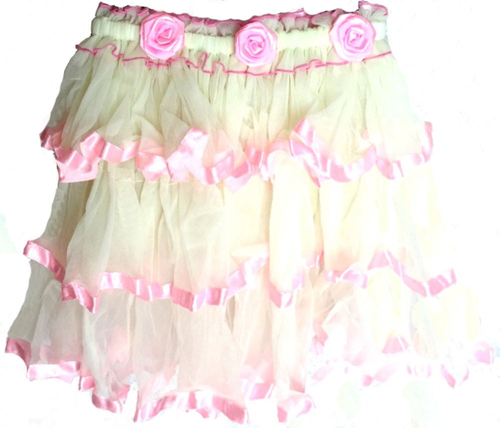 Kids' Petticoat Striped Frilly Skirt