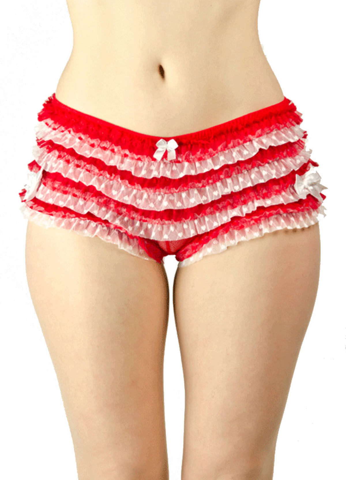 Sold Out (accept Made to Order) Two toned Frilly Heart Knicker