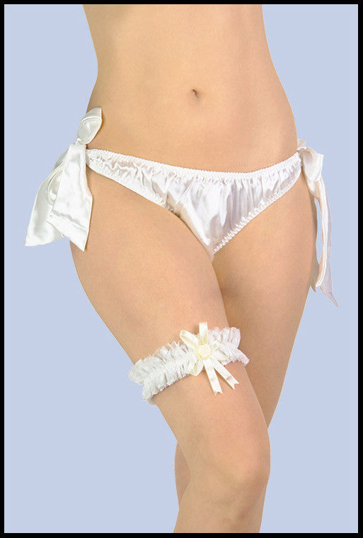 Frilly Wedding Garter (slim)