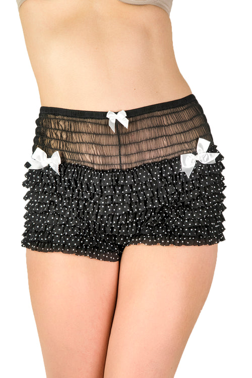Frills Dotted Retro Shorts