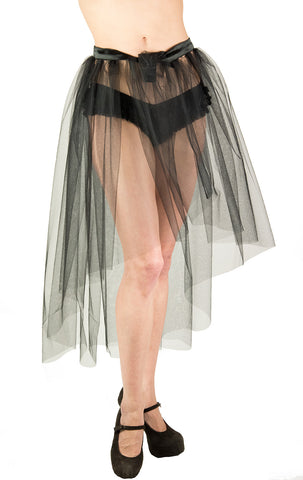 Madonna See through Black Bustle Skirt