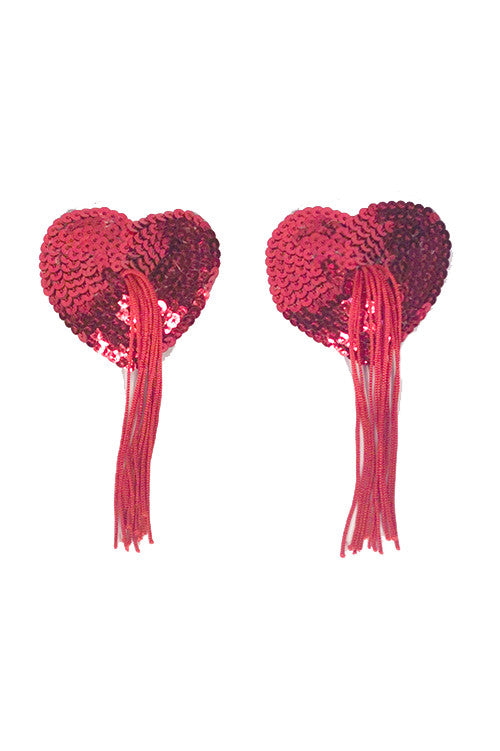 heart shaped sequin nipple tassels