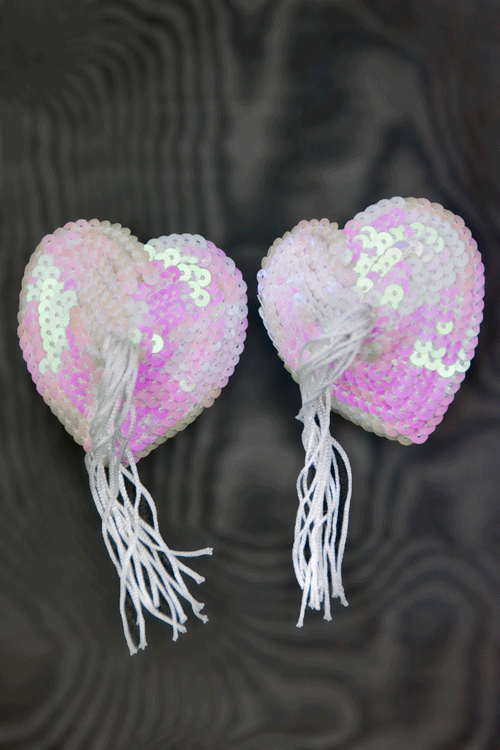 Heart Shape Sequin Tassel Pasties