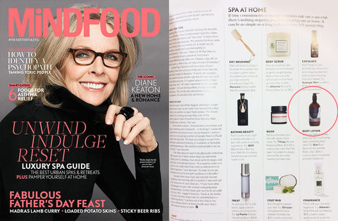 MindFood magazine september issue day spa at home