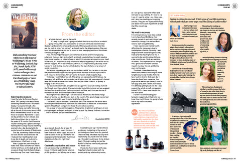 wellbeing magazine ena products october