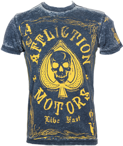 Affliction Aces Wild Tee Navy Blue