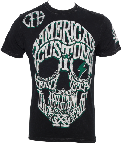 Affliction Amercian Customs Tee Black