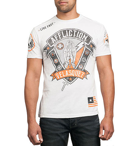 Affliction Cain Velasquez Devotion Tee short sleeve White
