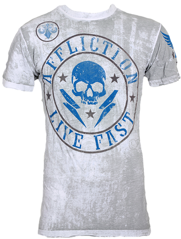 Affliction Divio Shockwave Tee White