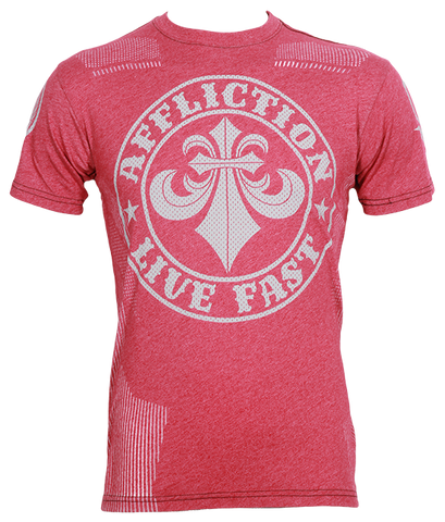 Affliction Divio Smoke Tee Red