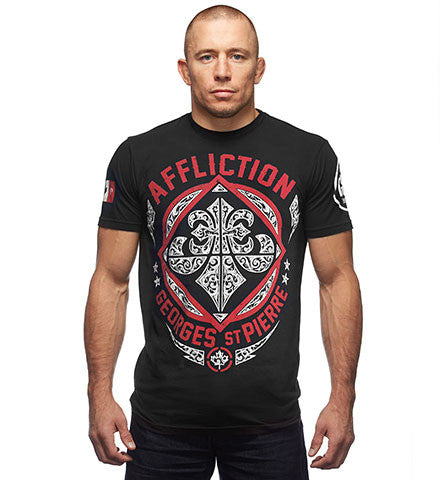 Affliction GSP Authority Tee Black