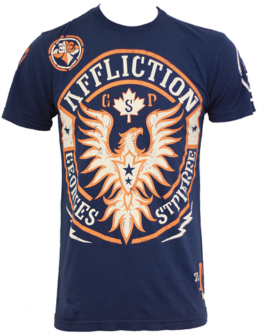 Affliction Georges St Pierre GSP UFC 154 Rush Walkout Navy