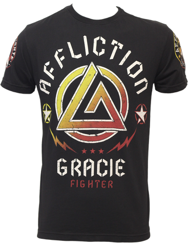 Affliction Gracie Jiu Jitsu Gym Tee Black