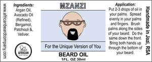 Beard Oil: Mzanzi - For the Unique Version of You