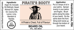 Beard Oil: Pirate's Booty - A Pirate's Chest, Full of Flavour