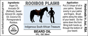 Beard Oil: Rooibos Plains - Indigenous South African Treasure