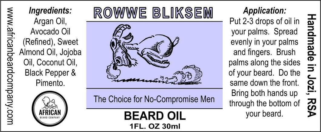 Beard Oil: Rowwe Bliksem - The Choice for No-Compromise Men