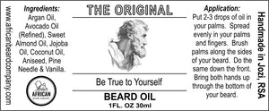 Beard Oil: The Original - Be True to Yourself