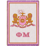 Phi Mu Pink Throw Blanket - My Gift Obsession