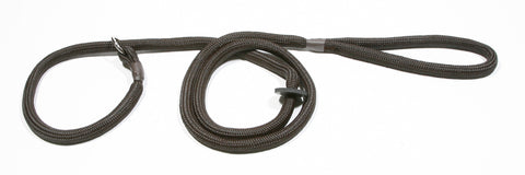 Braided Gundog Slip Lead with rubber/leather stopper