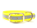 yellow reflective dog collar