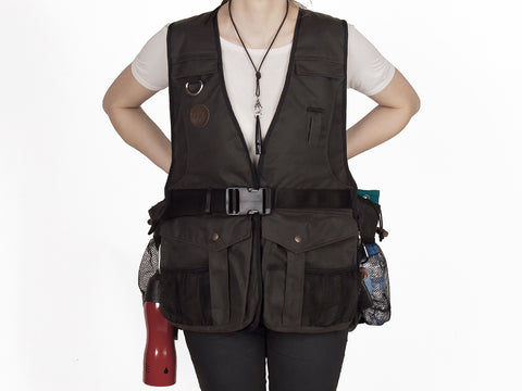"NEW BROWN WAXED Mystique® Dummy vest ""Profi"""