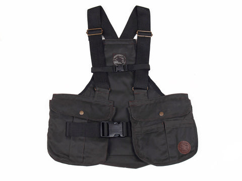 "BROWN WAXED Mystique Light Dummy Vest ""Trainer"" (Canvas Back)"