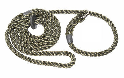 Rope Gundog Slip Lead with Rubber Stopper
