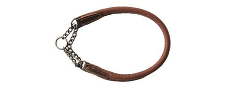 Moose Leather Collar (Half Choke)
