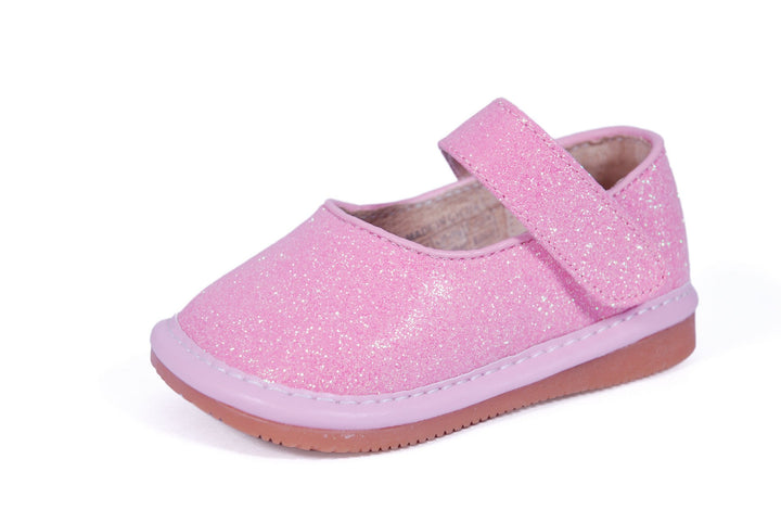 "Pink Glitter ""Princess"" Shoes"