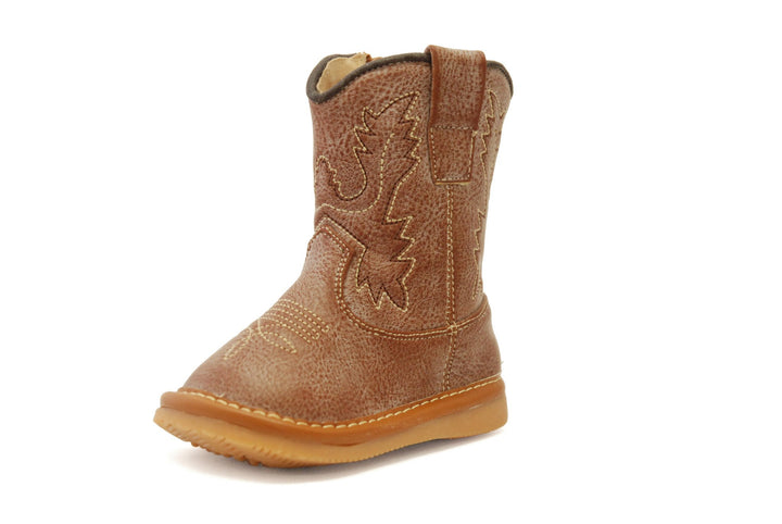 Light Brown Leather Cowboy Boots