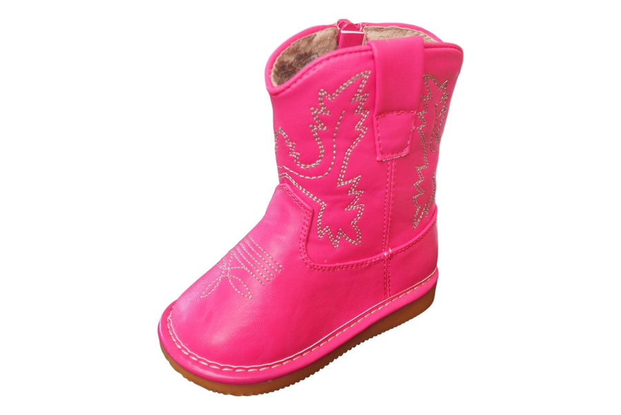 Fuchsia Leather Cowgirl Boots