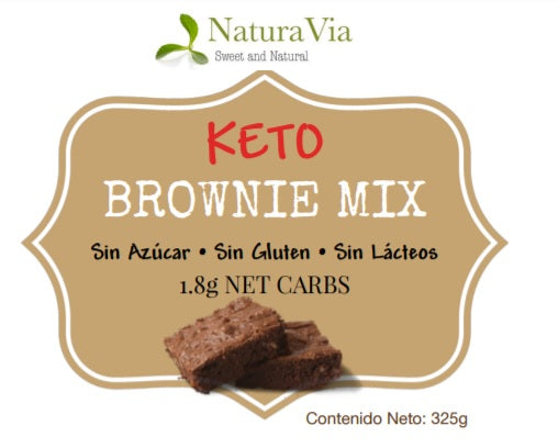 Keto Brownie Mix con Monk Fruit - Harina para preparar brownies
