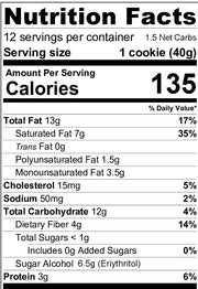 Galletas con Chispas Keto Mix - 323g