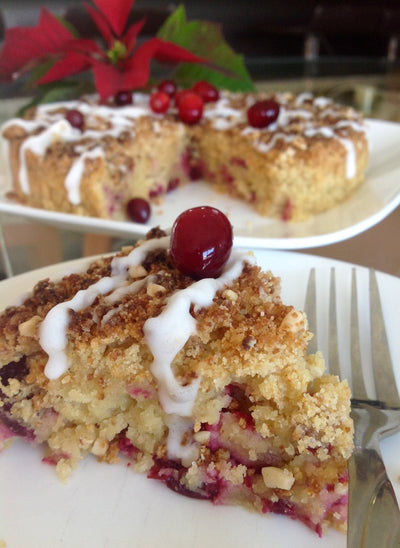 Receta Keto Cranberry Coffee Cake